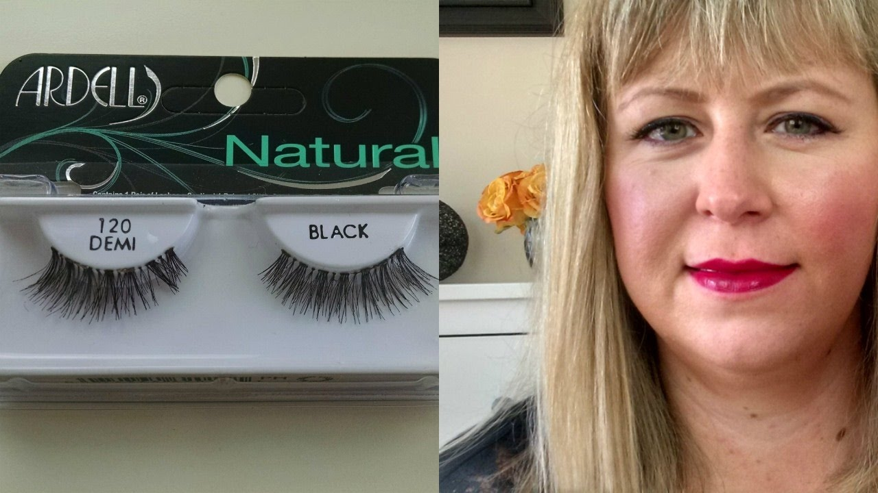 9aded06d26 HOW TO PUT ON FALSE LASHES ARDELL NATURAL 120 DEMI - YouTube