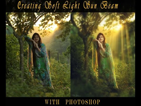 Create amazing soft light beam in Photoshop