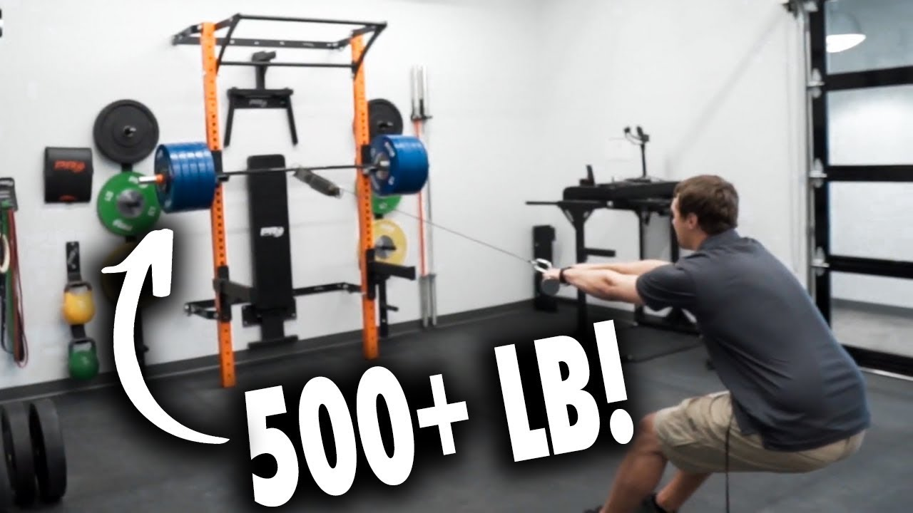 dropping 500 lb bar on prx folding squat rack test