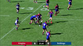 2019 Harold Matthews Grand Final Newcastle Knights v Canterbury Bulldogs 1st Half