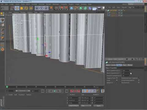 Cinema 4d Quick tutorial - how to make a simple curtain
