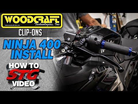 Woodcraft 2018 Kawasaki Ninja 400 Clip-On Riser Assembly Install