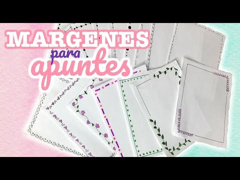 Margenes para tus apuntes SUPER FACIL (más de 15 diseños diferentes) || Brenda PE