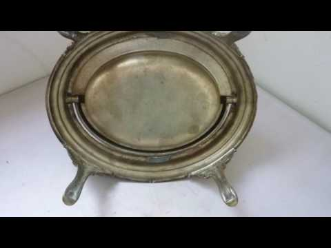 Victorian Butter Dish Revolving Dome With Original Frosted Glass Liner