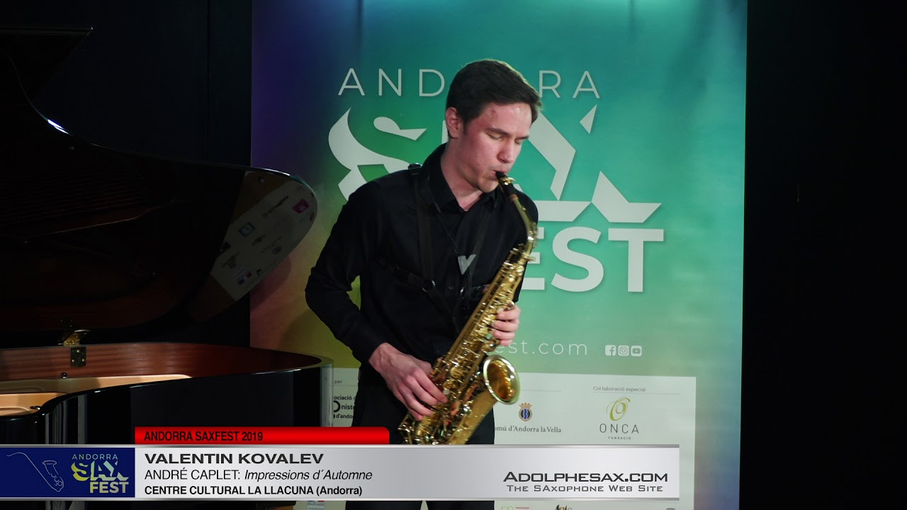 Andorra SaxFest 2019 1st Round   Valentin Kovalev   Impressions d´Automne by Andre Caplet