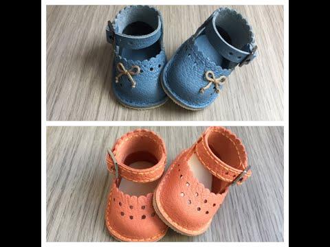 Как сшить для куклы обувь из кожи