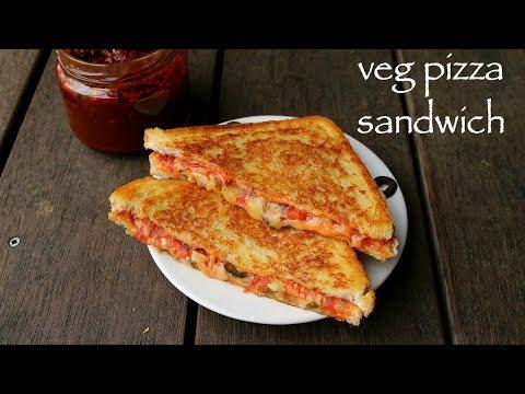 pizza sandwich recipe | grilled veg pizza sandwich | pizza sandwiches