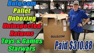 Bulq.com Pallet Unboxing - Uninspected Returns - Toys & Games & Star Wars - Online Reselling