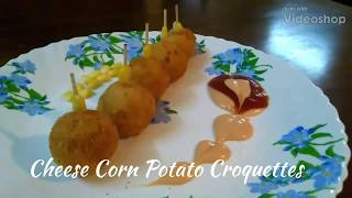 Delicious Recipes #2 | Cheese Corn Potato Croquettes | Easy Snack | Starter