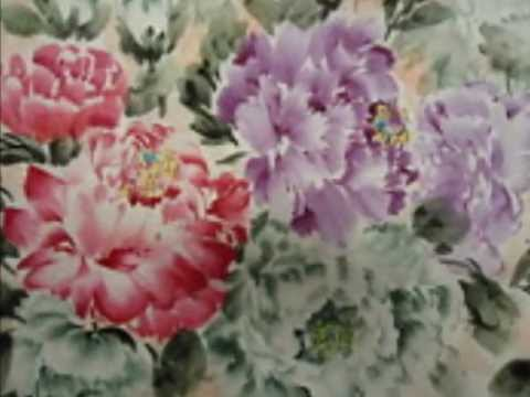 Chinese flower paintings -- Artist Donling Sun Chinese flower paintings