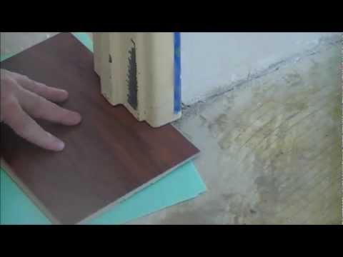 Installing laminate floors cutting door frames - YouTube