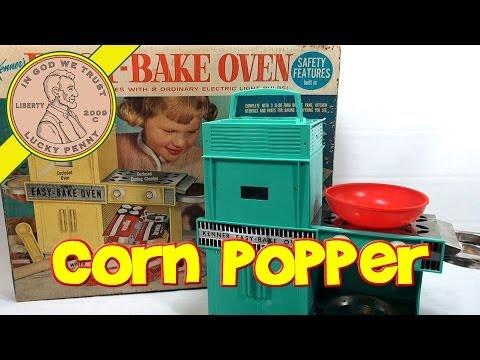 1964 Betty Crocker Easy Bake Oven, Kenner Toys - Easy Pop Corn Popper!