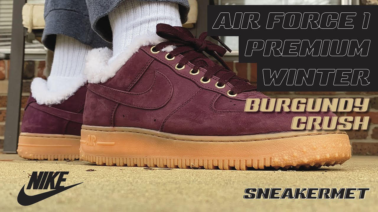 Nike Air Force 1 Premium Winter Burgundy Crush Review Youtube