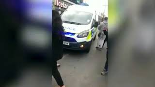 Upton Park shoppers wrestle blade from hands of knifeman before he is pinned to the floor
