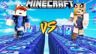 SZALONY WYŚCIG! - WODNE LUCKY BLOCKI MINECRAFT! (Water Lucky Block Race) | Vito vs Bella