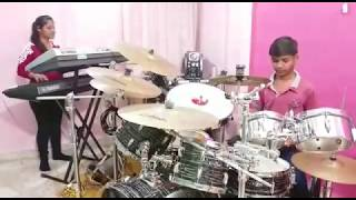Mere Rashke Qamar Instrumetal Cover |Piano & Drum Cover|Pranay Jain & Saloni Jain | Indori Artist