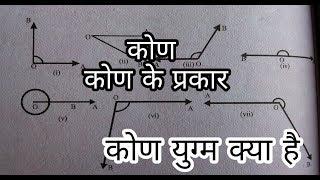 कोण ,कोण के प्रकार , कोण युग्म क्या है ( Types of angle, What is the angle pair)