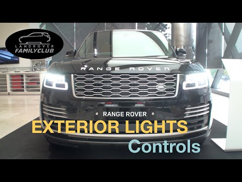 How To Use Land Rover Exterior Light Controls