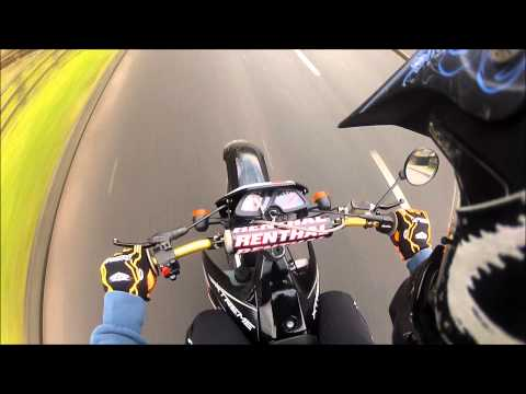 Derbi Senda 50cc Top Speed! Gopro!