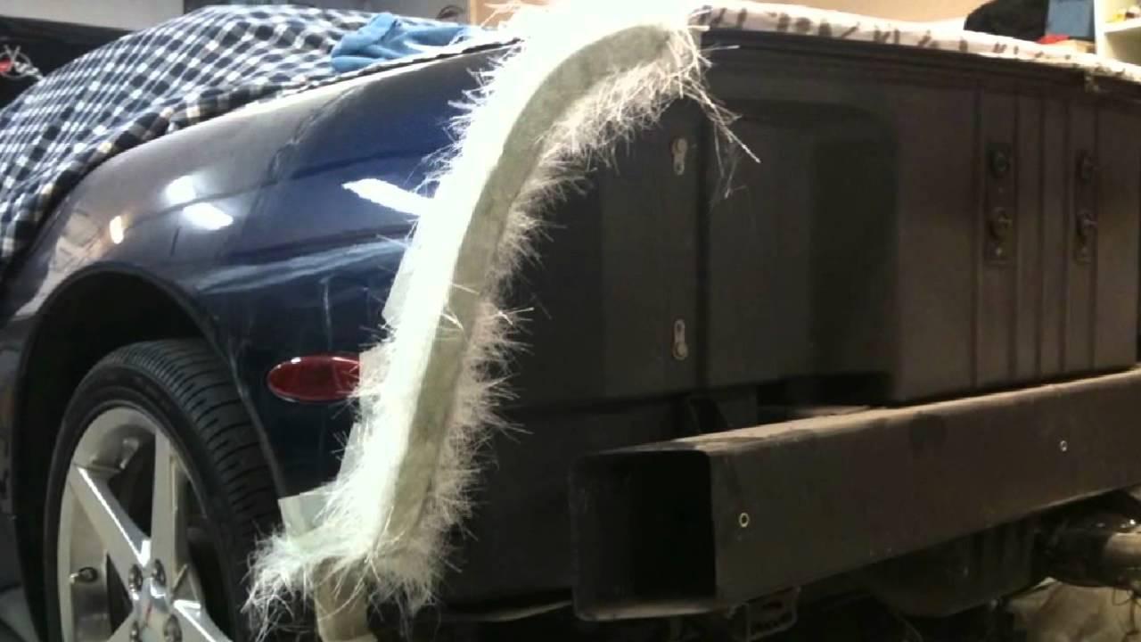How To Make A Mold Of A Car Fender >> Corvette Rear Bumper Fibreglass Molding Youtube