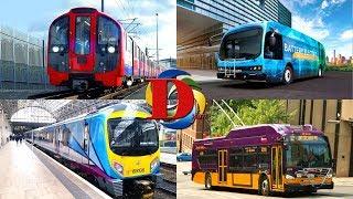 Городской транспорт для детей / Видео про машинки Трамвай, Троллейбус и Автобус