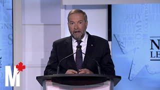 Mulcair criticizes Keystone XL proposal: Maclean's debate