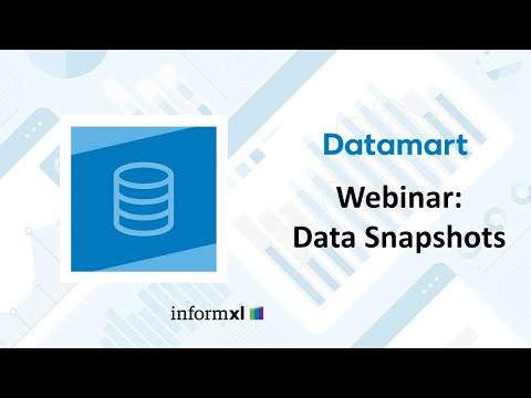 Datamart It! Webinar Data Snapshots