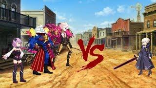 Fate/Grand Order Saber Alter solo vs Edison co.
