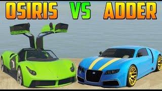 PEGASSI OSIRIS vs ADDER - Test de Velocidad - El Coche Mas Rápido de GTA V Online PS4