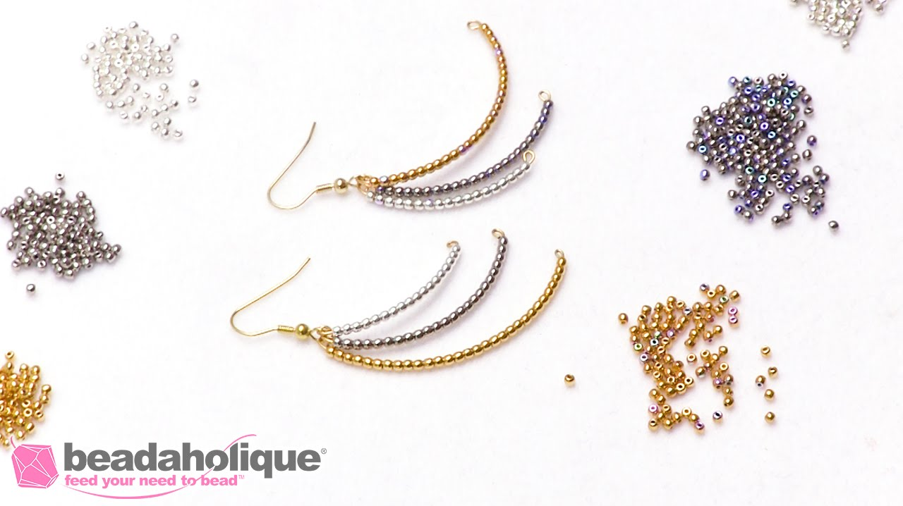 How to Make Cascading Dangle Earrings using Memory Wire - YouTube