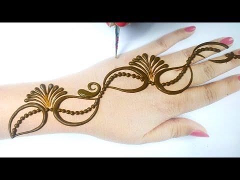 बहुत आसान मेहँदी डिज़ाइन लगाना सीखे - Beautiful Mehndi Design [ Easy Gol Tikki Mehndi Design]