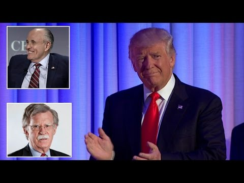 Will Rudy Giuliani, John Bolton and Laura Ingraham Join Trump's Administration?