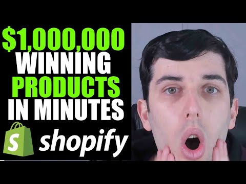 How To Find $1,000,000 Winning Products In Minutes 2019 | Shopify Dropshipping thumbnail