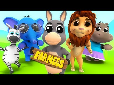 Animal Sound Song   Kids Cartoons And Rhymes By Farmees