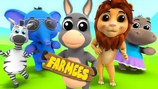 Animal Sound Song | Kids Cartoons And Rhymes by Farmees
