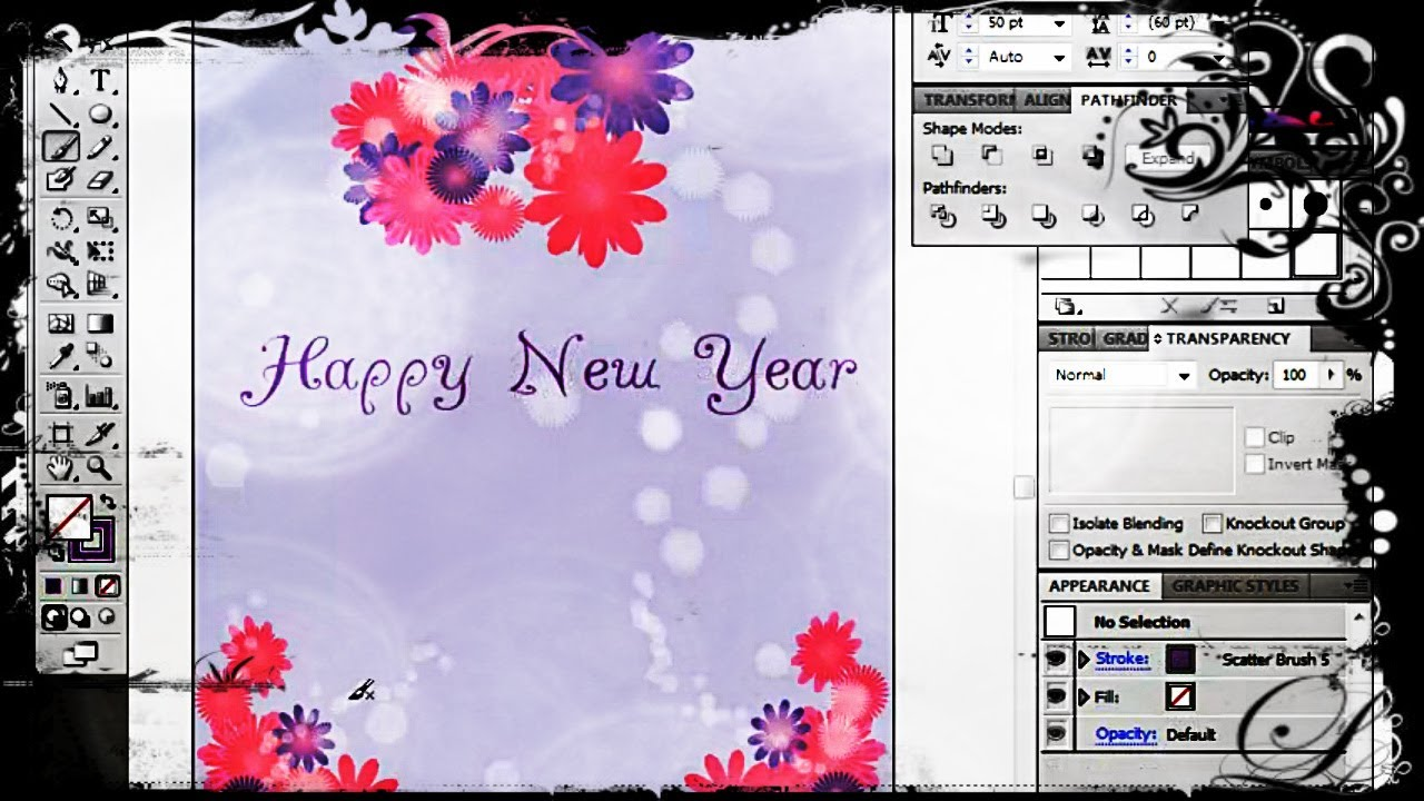 how to create a greeting card in adobe illustrator youtube