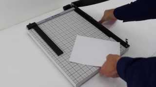 How To Use The Akiles OffiTrim Plus 1518 Guillotine Paper Cutter.