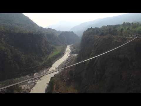 HIMALAYA EXPEDITION DAY 3 KUSMA GYADI BRIDGE baglun