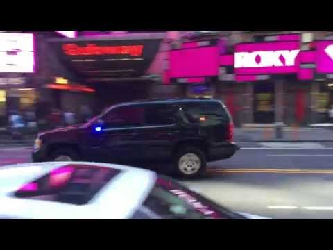 UNITED STATES SECRET SERVICE UNIT RESPONDING ON W. 42ND STREET IN TIMES SQUARE, MANHATTAN, NEW YORK.