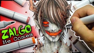 "Zalgo ""He Comes"" Creepypasta Story + Drawing (Scary Stories)"