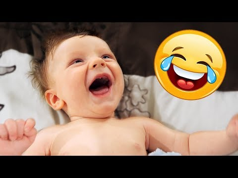 Our Baby Boy Laughing His First Laughs! - Laughing so hysterically he's ripping big ones!
