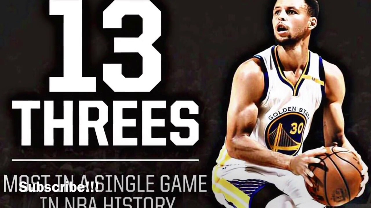 Steph Curry With The Shot Boy!!! Breaks NBA 3 Point Record 13 3 s ... f1cb875c84af