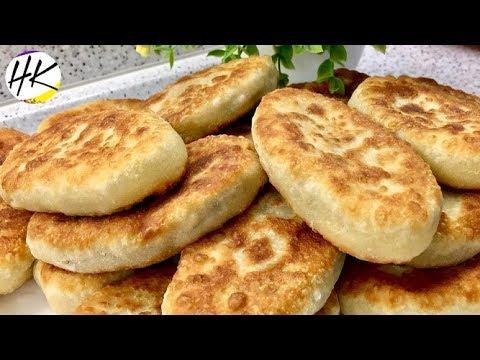 Жареные Пирожки с Картошкой и Грибами! Тоненькое Тесто и много Начинки!