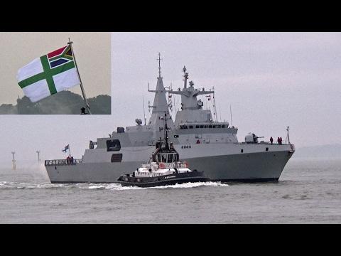 South African Navy Ship SAS Amatola Arrives at Portsmouth UK