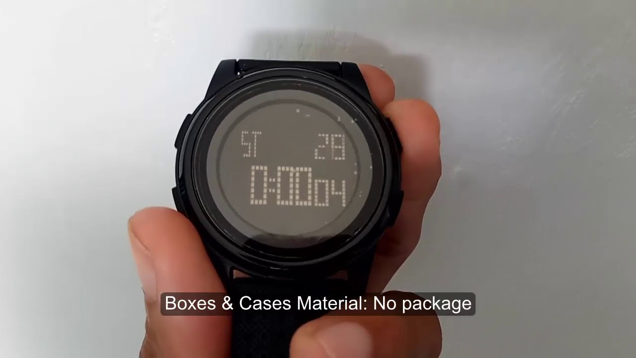 4bdc4a5d659 REVIEW SKMEI 1206 DIGITAL SPORT WATCH SUPER THIN SLIM - YouTube