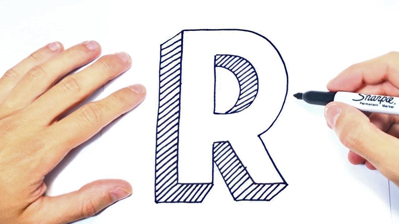 Cómo dibujar la Letra R Dibujo de la Letra R YouTube