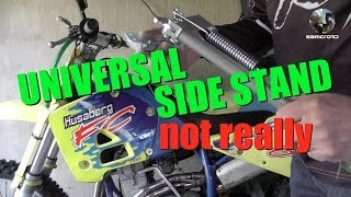 Universal side stand or kick stand for motocross bikes