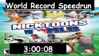 Nicktoons MLB - Tourney Mode (Wii) Speedrun in 3:00:08 [Previous World Record]