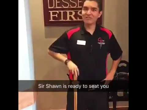 Sir Shawn will seat you now