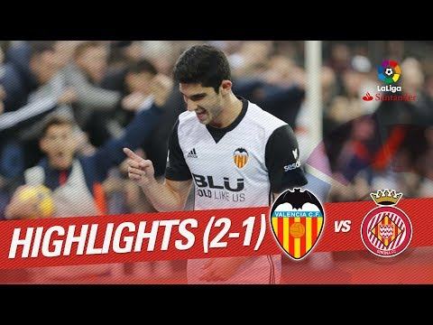 Resumen de Valencia CF vs Girona FC (2-1)